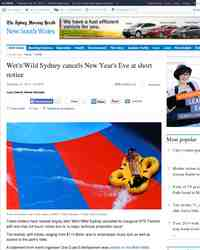Wet Wild Sydney cancels New Year: Sydney Morning Herald
